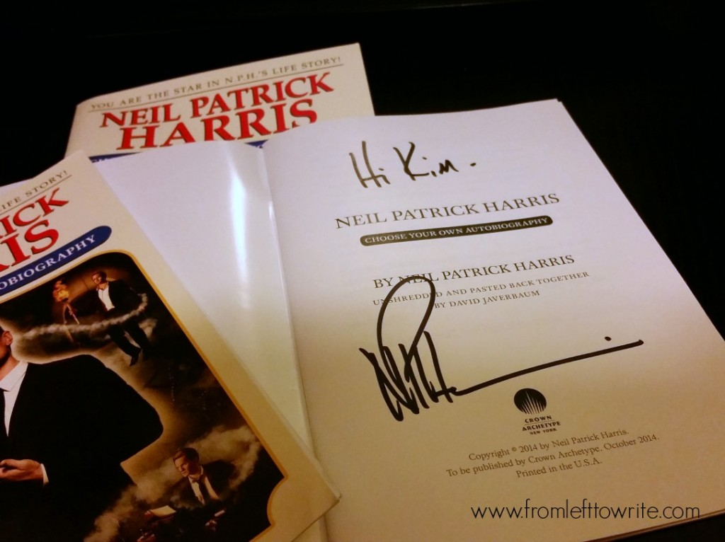 NPH Autograph from Book Expo America-From Left to Write
