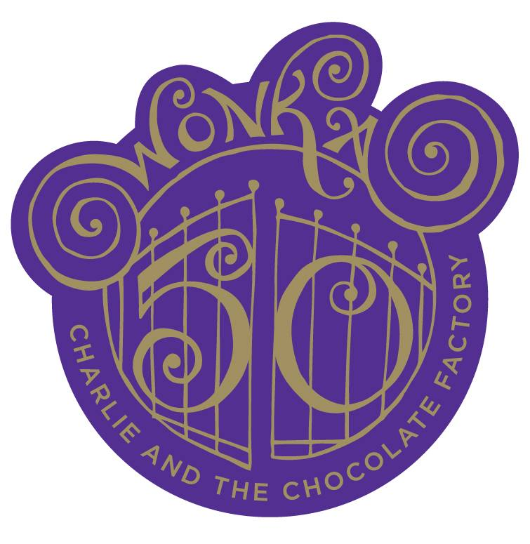 50th Anniversary Badge Charlie Chocolate Factory