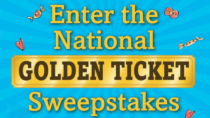 National Golden Sweepstakes Charlie Chocolate Factory