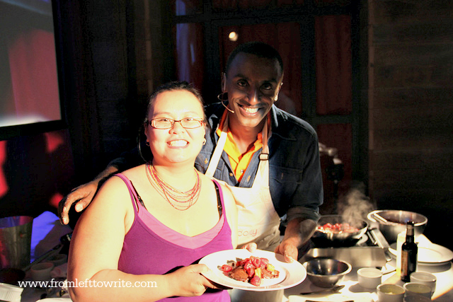 Thien-Kim cooking with Chef Marcus Samuelsson