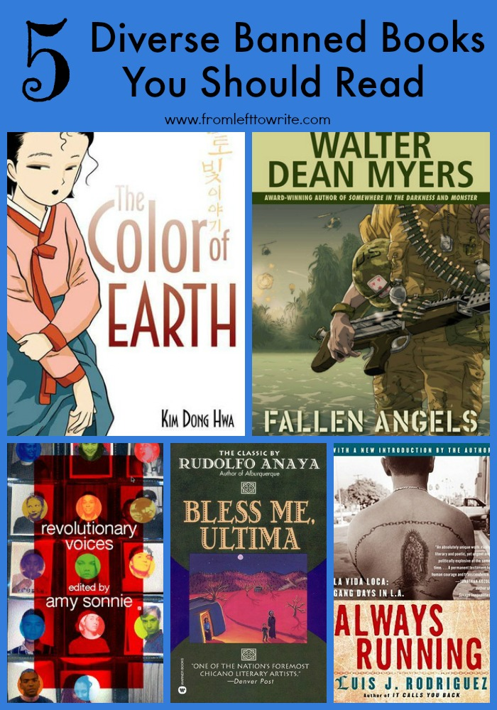 5 Diverse Banned Books You Should Read #WeNeedDiverseBooks-From Left to Write