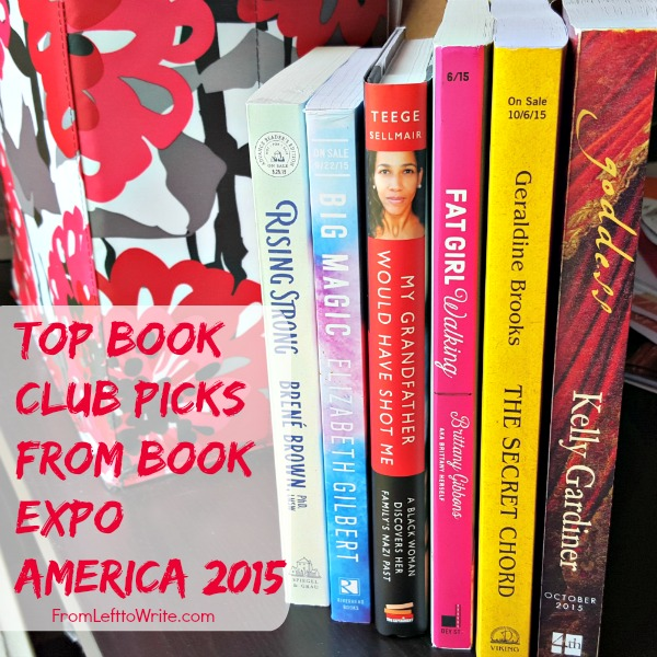 Top Book Club Picks from BEA 2015 via From Left to Write
