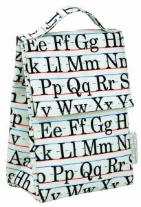 Vintage Alphabet Lunch Sack
