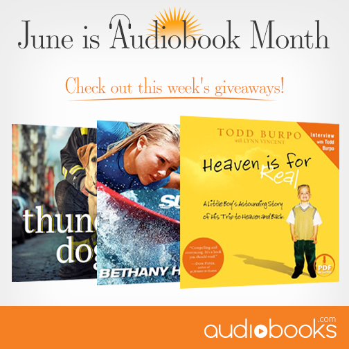 Audiobook Month specials from Audiobooks.com